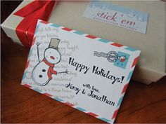 Holiday Personalized Stickers/ Holiday Gift by stickemstore, $22.00