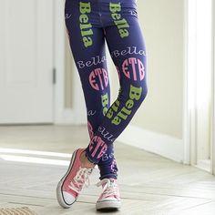 Girls Name & Monogram Arden Leggings