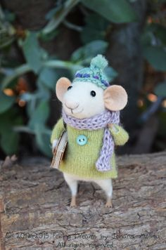 Her work is exquisite!  Little Traveler Mouse - Felting Dreams - READY TO SHIP on Etsy, $88.00