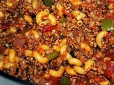 Italian Style Goulash **instead of beans & mushroom, use frozen peas/carrots, make as a freezer/crockpot meal**