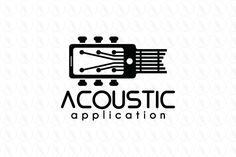 Logo design of a smartphone combine with a guitar. Music Production Equipment, Guitar Logo, Acoustic Music, American Diner, Music Logo, Music Store, Instruments, Logo Design, Branding