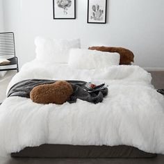 This duvet cover set is so soft, you will never want to get out of bed. Made of faux fur and velvet, every part of this set is pure decadence. Queen Size Measures: Queen Size 1 piece Duvet Cover: x 1 piece Flat Bed Sheet: x 2 pieces Pillowcases: x Velvet Bedding Sets, Pink Bedding Set, Velvet Duvet, Luxury Bedding Sets, Modern Bedding, Twin Size Bed Covers, Bed Cover Sets, Bed Sets, Crib Sets