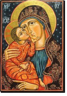 Mother Of God  with Child (Eleousa) Angela Ludosanu
