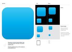 Updated iOS Application Icon Ai Template   The Hickensian (Hicks Design) #illustrator