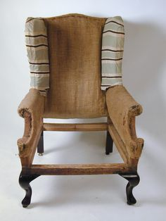 george 11 mahogany wing chair frame