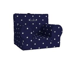 Navy Star Glow In The Dark Anywhere Chair | Pottery Barn Kids- without personalization.
