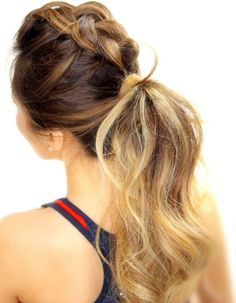 DIY this braided pony for a night out.