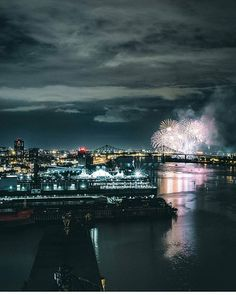 Summer night fireworks in Montreal. Picture by @simonlachapelle. #mtlblog…