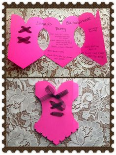 DIY Bachelorette Invitations