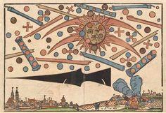 celestial phenomenon over Nüremberg, Germany . 1561