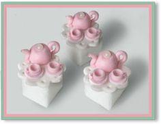 Tea Party Bouquet Hand Decorated Sugar Cubes