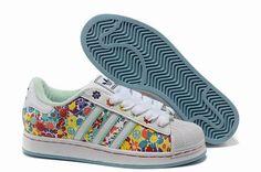 (FRUdc) Adidas Superstar 2 Floral Chaussures Traning Femme Jaune/Vert 1