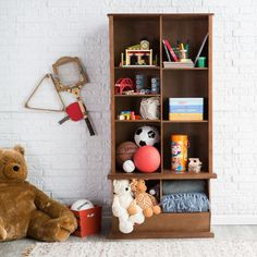 This classic bookcase withis a great way to teach little ones that classic clean-up rule .