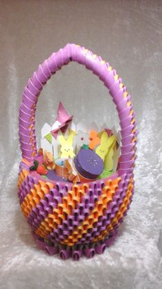 3D Origami Spring Garden Diorama Basket By BasketsbyNEN On Etsy