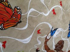 Outdoor wall mural, North London Women's Hostel, 2013; detail.