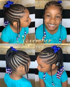Children's Braids and Beads! Booking Link In Bio! Children's Braids and Beads! Booking Link In Bio! Toddler Braided Hairstyles, Cute Little Girl Hairstyles, Black Kids Hairstyles, Girls Natural Hairstyles, Baby Girl Hairstyles, Ponytail Hairstyles, Children Hairstyles, Instagram Hairstyles, Little Girl Braid Styles