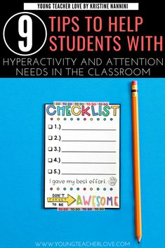 9 Tips to Help Students with ADHD, Hyperactivity, and other Attention Needs in the Classroom - Young Teacher Love 4th Grade Classroom, Middle School Classroom, High School, Classroom Solutions, Classroom Ideas, Classroom Organization, Classroom Checklist, Classroom Behavior Management, Class Management