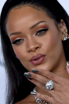 """Rihanna at her 2nd annual """"Diamond Ball"""" in Los Angeles. (10th December) *close up*"""