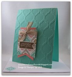 New stamps set and folder from Stampin Up Called: Mosaic Madness