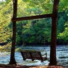 I would love to have this at my house so I could go out and occupy the swing for a time and just listen to the sounds of the water rippling.