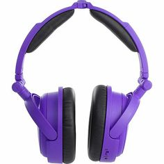 Able Planet Musician's Choice® Neon™ Around the Ear Active Noise Canceling Foldable Headphones - Purple