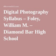 Digital photography assignments