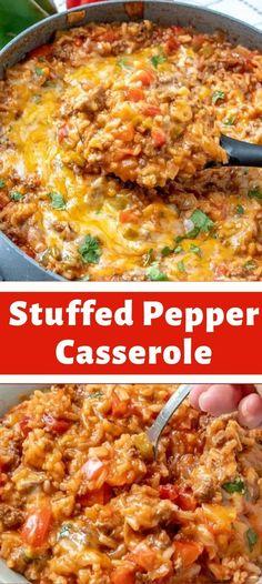 Easy Casserole Recipes, Casserole Dishes, Easy Dinner Recipes, New Recipes, Easy Meals, Cooking Recipes, Favorite Recipes, Healthy Recipes, Casserole Kitchen