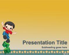 Plantilla PowerPoint de Humor es un fondo de PowerPoint con un niño haciendo malabares y es una plantilla divertida de PowerPoint