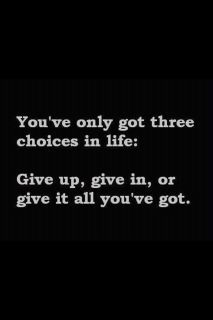 choices in life...