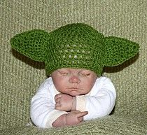 Yoda You Are - Crochet Yoda Hat @Mary N