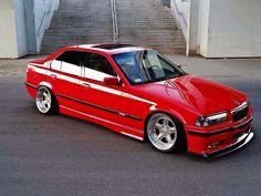 BMW E36 Sedan, E36 Cabrio, Bmw E36 Drift, Bmw Red, Ac Schnitzer, Custom Chevy Trucks, Bmw Classic Cars, Bmw 2002, Bmw Series