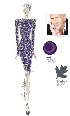 #FCRF13 Designer Inspiration: Carmen Marc Valvo http://pantone.com/Fall2013