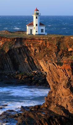 ONE OF MANY BEAUTIFUL LIGHTHOUSES - Cape Arago Lighthouse, Gregory Point, Charleston, Oregon