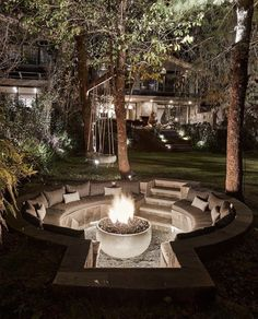 Fire Pit Area, Fire Pit Backyard, Fire Pit On Wood Deck, Outdoor Fire Pits, Garden Fire Pit, Fire Pit Near Pool, Fire Pit Pergola, Outside Fire Pits, Fire Pit With Grill