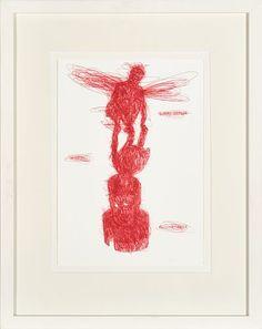 SVERRE KOREN BJERTNÆS TRONDHEIM 1976  Henry Darger Penn på papir, 28x19 cm Signert nede til høyre: Bjertnæs