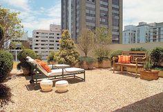 Área Externa: Dicas e sugestões para decorar a área externa - Casa e Jardim - NOTÍCIAS - Quer pedriscos na sua cobertura?