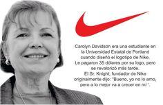 #Logotipos famosos y sus creadores Carolyn Davidson, Nike Logo, Insight, Branding, Logos, Graphic Designers, Graphics, Famous Logos, Studio