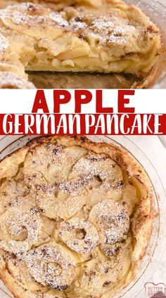 Apple German Pancake, also known as a Dutch Baby Pancake, made with flour, milk, eggs and fresh apples. The apples add so much flavor to this classic German pancake recipe! Best Apple Recipes, Apple Cake Recipes, Fruit Recipes, Sweet Recipes, Dessert Recipes, Dessert Ideas, Favorite Recipes, Breakfast Dessert, Breakfast For Dinner