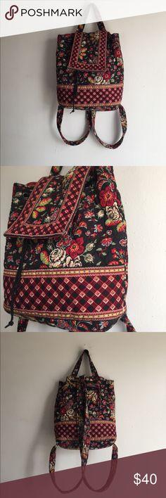 Vintage Vera Bradley backpack Vintage Vera Bradley backpack, has a drawl string opening, pocket in the back and magnetic closure. Vera Bradley Bags Backpacks