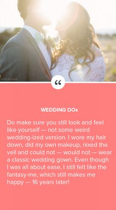 "Follow this important wedding ""Do""!"
