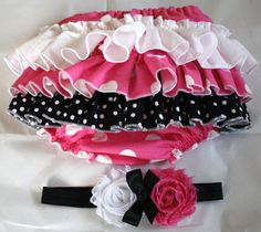 Minnie Mouse Inspired Baby Ruffle Bloomers by AllAboutTheGlam, $25.00