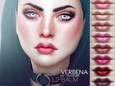 The Sims Resource: Verbena Lipbalm N117 by Pralinesims • Sims 4 Downloads