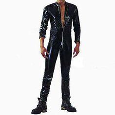 [BlackFridaySale]Cool Men Black PU Leather NightClub Sexy Uniform – EUR € 25.78