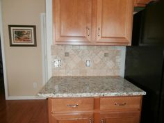 stone kitchen backsplash pictures golden oak kitchen cabinets granite golden wave or 5833