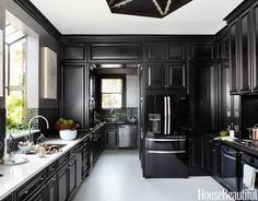 Beautiful Designer Kitchens - 2014 Kitchen of the Year. For the San Francisco Decorator Showcase, designer Steven Miller creates a dramatic space for entertaining. JAMES BAIGRIE