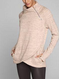Athleta cozy karma sweater....possibly good for nursing?