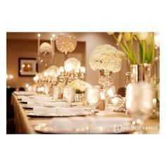 Winter Wedding Inspiration / Winter wedding decor found on Polyvore