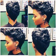 Sister2sister beauty salon on IG... #mohawk #pixies