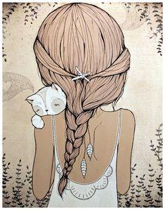 Crazy Cat Lady Illustration