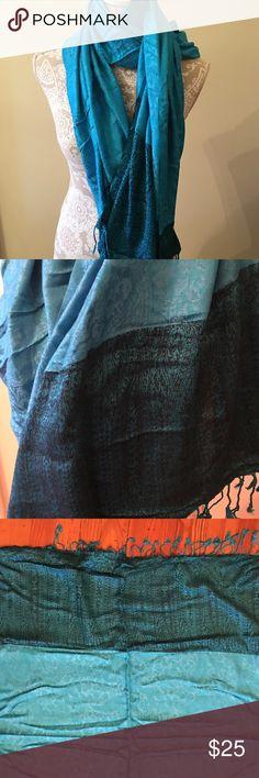 Beautiful teal/black pashmina style scarf/wrap 🌺 New teal and black shawl/pashmina. Beautiful 🌼 Accessories Scarves & Wraps